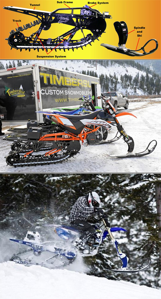 Snow track conversion for dirt bikes