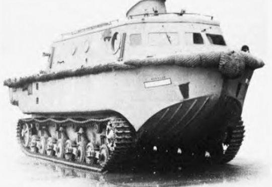 tracked boat