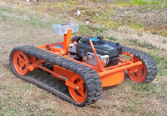 remote controlled tracked lawnmower